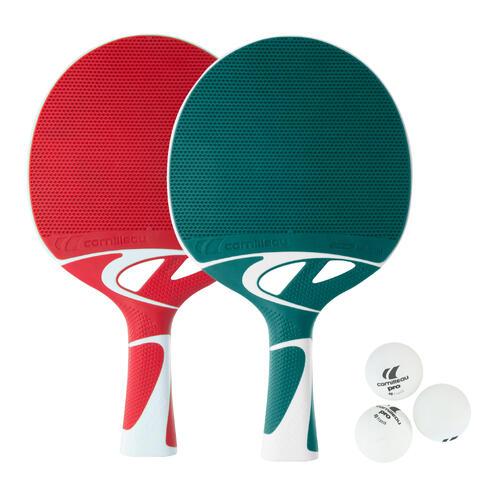 Kit tennis de table avec 2 raquettes tacteo Cornilleau et 3 balles