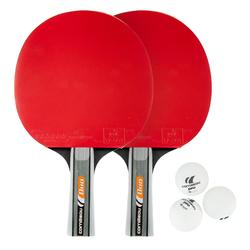 SET TENNIS DE TABLE FREE DE 2 RAQUETTES ET 3 BALLES - PACK DUO