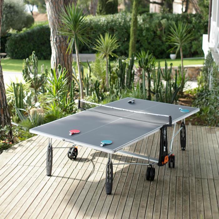 TABLE DE TENNIS DE TABLE FREE CROSSOVER 250S OUTDOOR GRISE AVEC HOUSSE - 1060352
