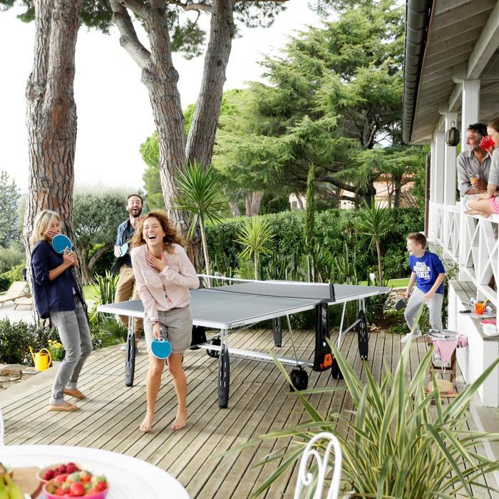 TABLE DE TENNIS DE TABLE FREE CROSSOVER 250S OUTDOOR GRISE AVEC HOUSSE - 1060353