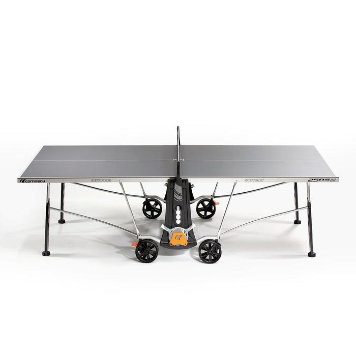 TABLE DE TENNIS DE TABLE FREE CROSSOVER 250S OUTDOOR GRISE AVEC HOUSSE - 1060375