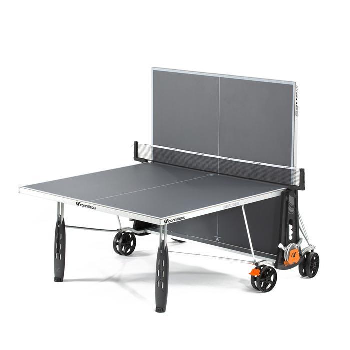 TABLE DE TENNIS DE TABLE FREE CROSSOVER 250S OUTDOOR GRISE AVEC HOUSSE - 1060377