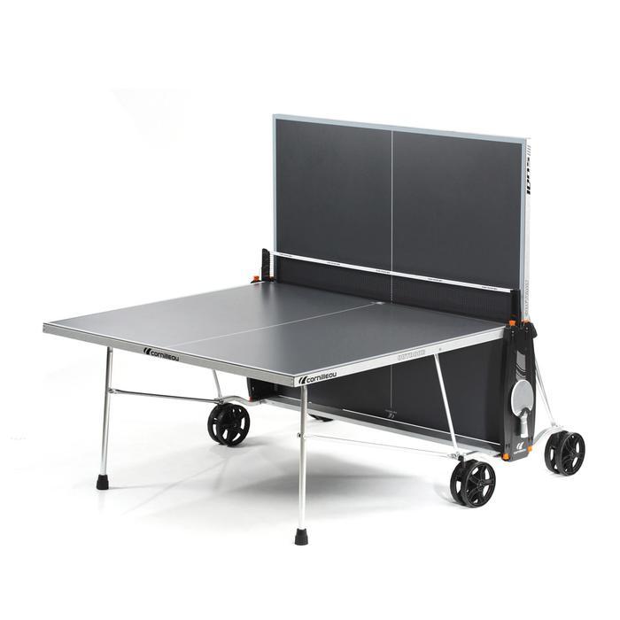 Tafeltennistafel / pingpongtafel outdoor 100S Crossover grijs
