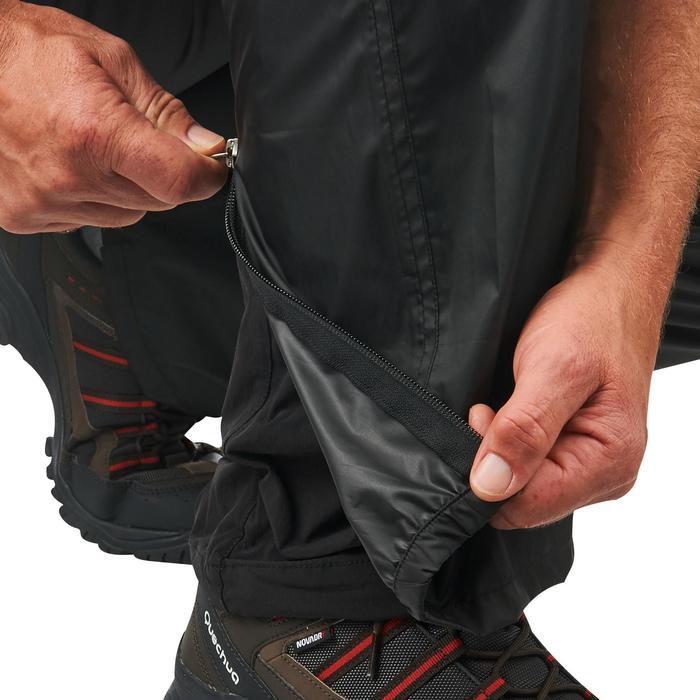 Sur-pantalon imperméable randonnée nature homme Raincut noir - 1060425