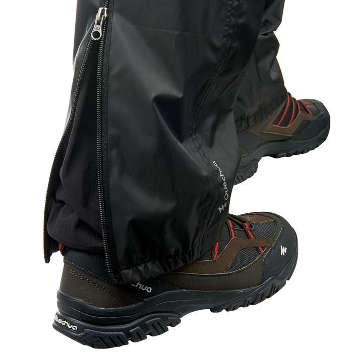 Sur-pantalon imperméable randonnée nature homme Raincut noir - 1060435