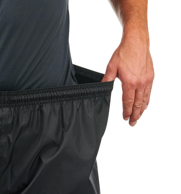 Men's Rain Pants NH500 Hiking Over-Trousers - Black