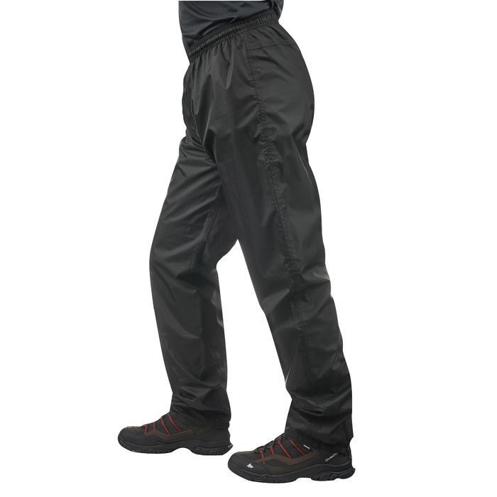 Sur-pantalon imperméable randonnée nature homme Raincut noir - 1060489
