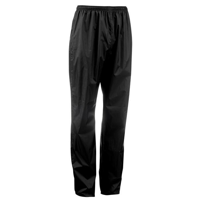 Sur-pantalon imperméable randonnée nature homme Raincut noir - 1060502