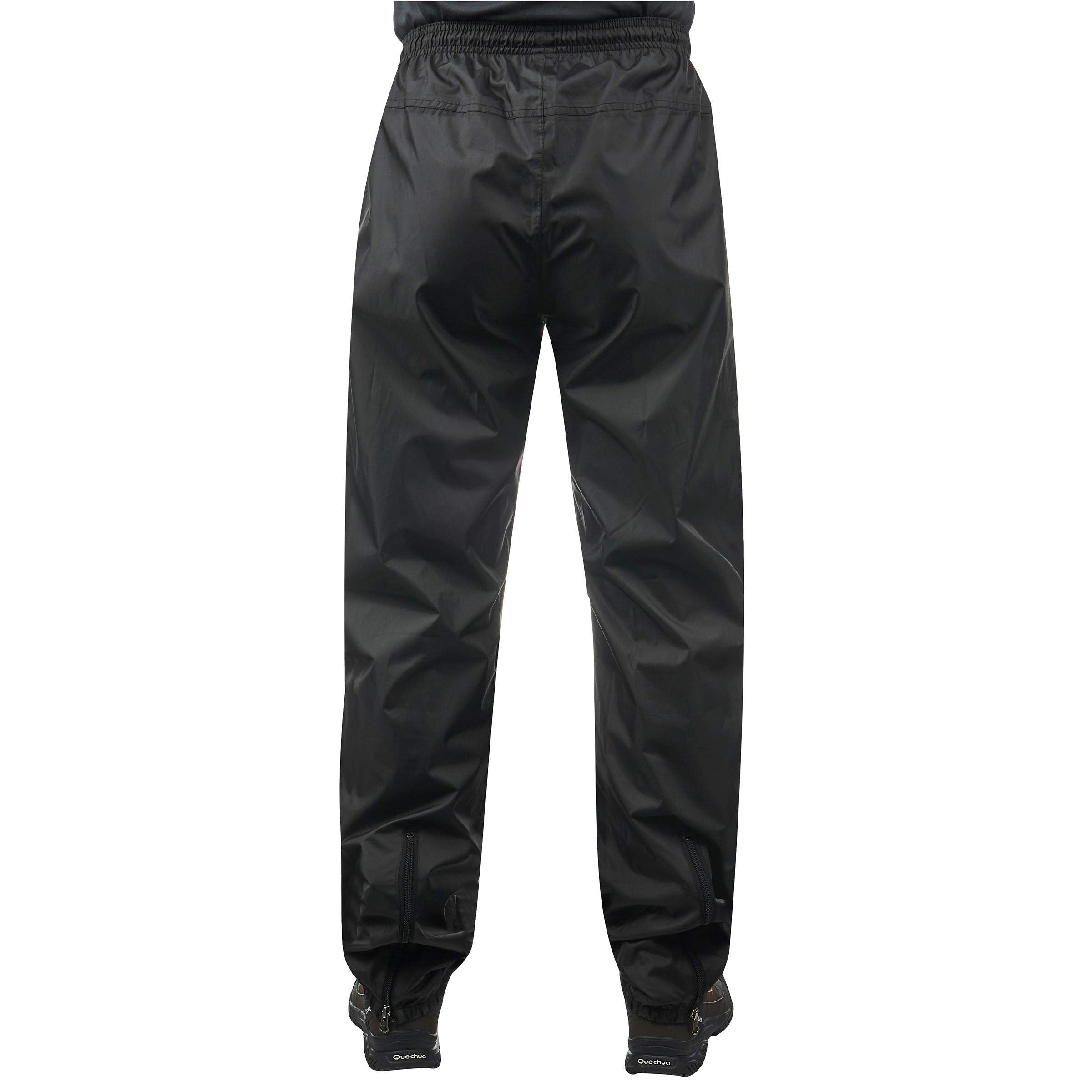 NH500 Protect men's country walking waterproof over-trousers - black