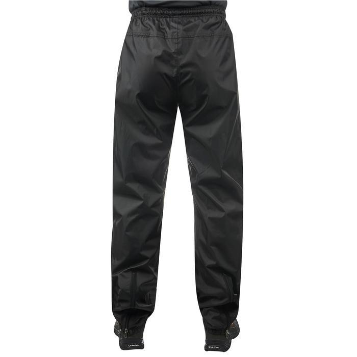 Pantalón Lluvia Impermeable Montaña y Senderismo Quechua NH500 Hombre Negro
