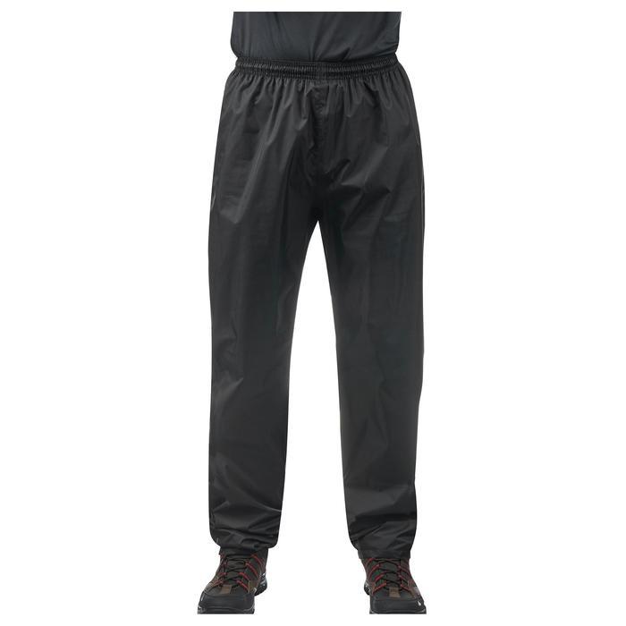 Sur-pantalon imperméable randonnée nature homme Raincut noir - 1060525