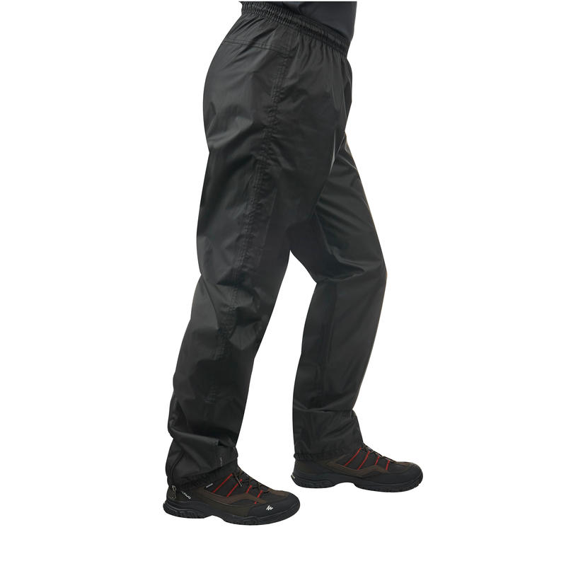 Men's Rain-cut Rain Waterproof Hiking Over-trousers - Black