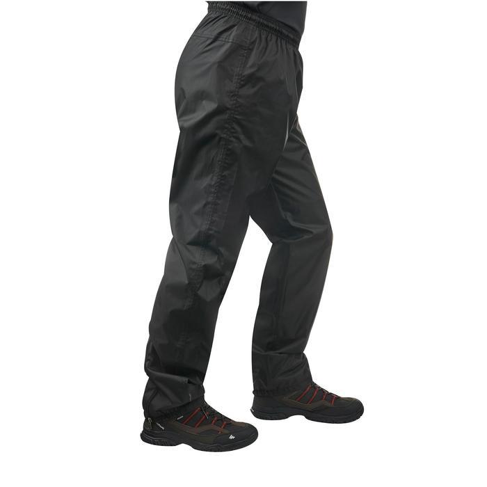 Sur-pantalon imperméable randonnée nature homme Raincut noir - 1060531