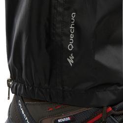 Sur-pantalon Imperméable randonnée nature NH500 Protect noir homme