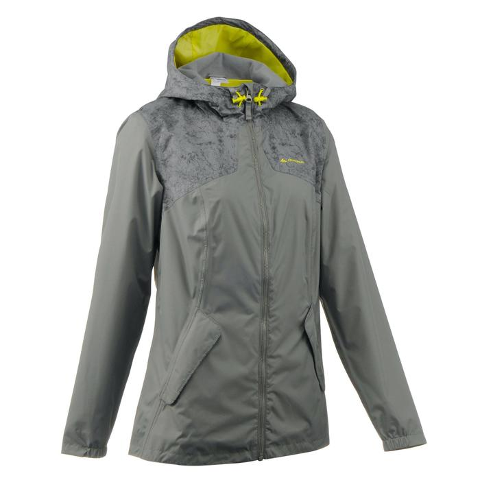 Regenjas voor natuurwandelingen dames NH100 kaki