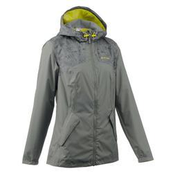 Veste Imperméable randonnée nature femme NH100 kaki
