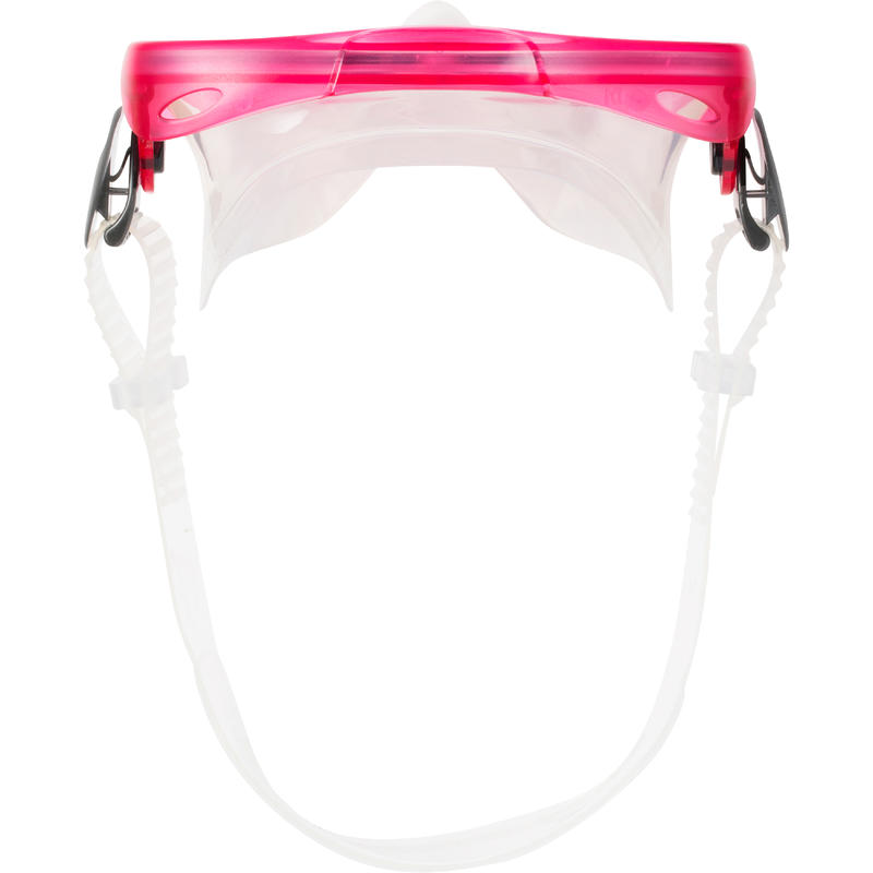 FMS 100 freediving fins mask snorkel kit for children pink