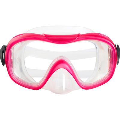 FMS 100 freediving fins mask snorkel kit for children pink