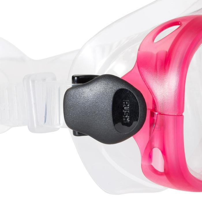 Snorkelset PMT vinnen, duikbril en snorkel 100 voor kinderen roze