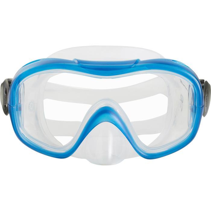 Kinderduikbril 100 voor snorkelen of diepzeeduiken blauw