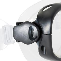 Ensemble palmes masque tuba d'apnée PMT100 bleu noir pour enfants