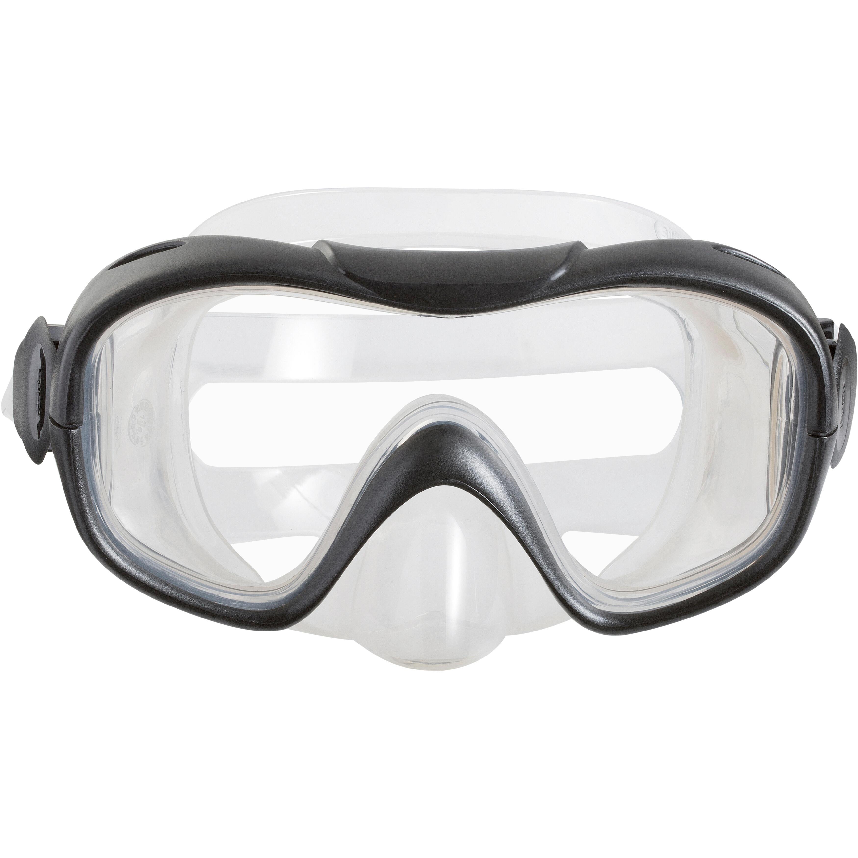 FMS 100 freediving snorkel fins mask kit for adults blue black