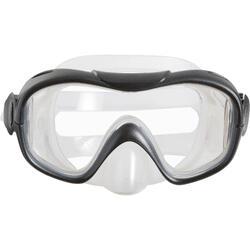 Schnorchel-Set Freediving PMT100 Erwachsene blau/schwarz