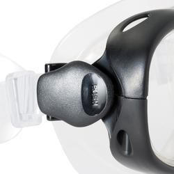 Schnorchel-Set PMT Flossen Maske Schnorchel Tuba 100 Erwachsene blau/schwarz