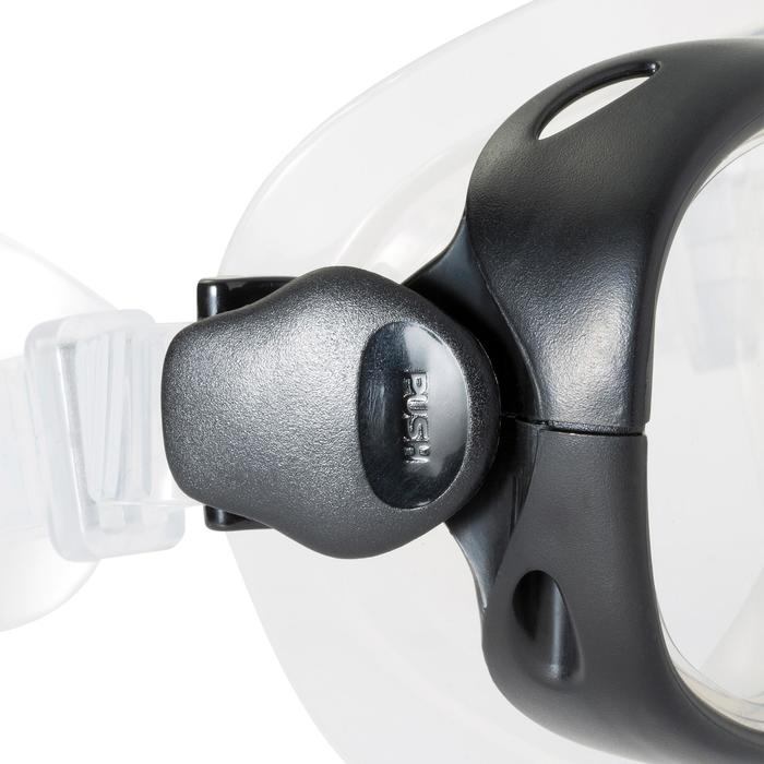 Snorkelset duikbril, snorkel en zwemvliezen PMT100 blauw zwart volwassenen
