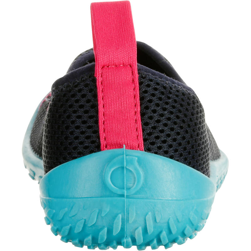 100 Kids' Aquashoes - Dark Blue Turquoise