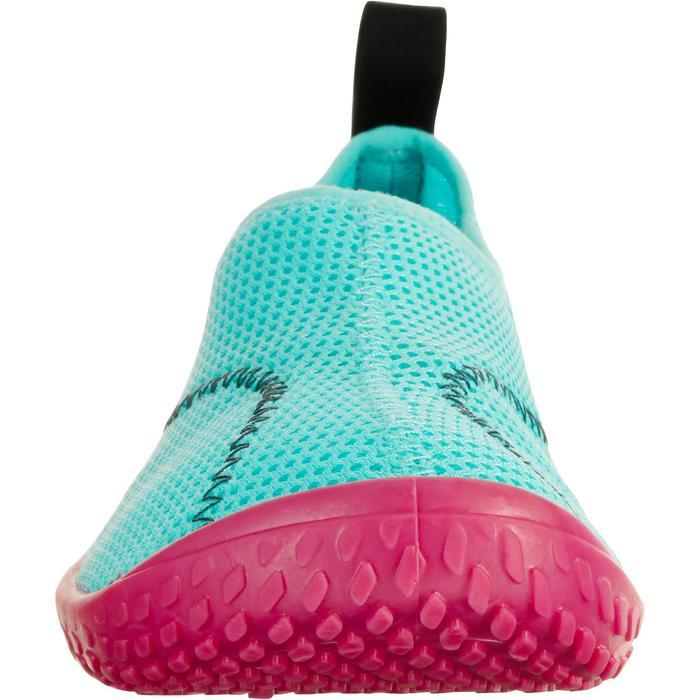 Zapatillas acuáticas Aquashoes 100 niños turquesa y rosa