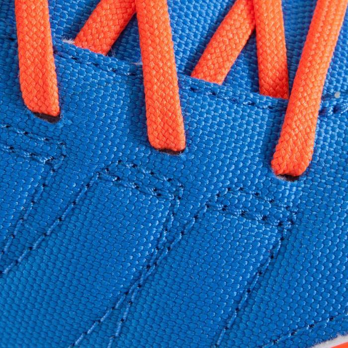 Botas de fútbol para niños terrenos duros CLR 500 HG azul amarillo