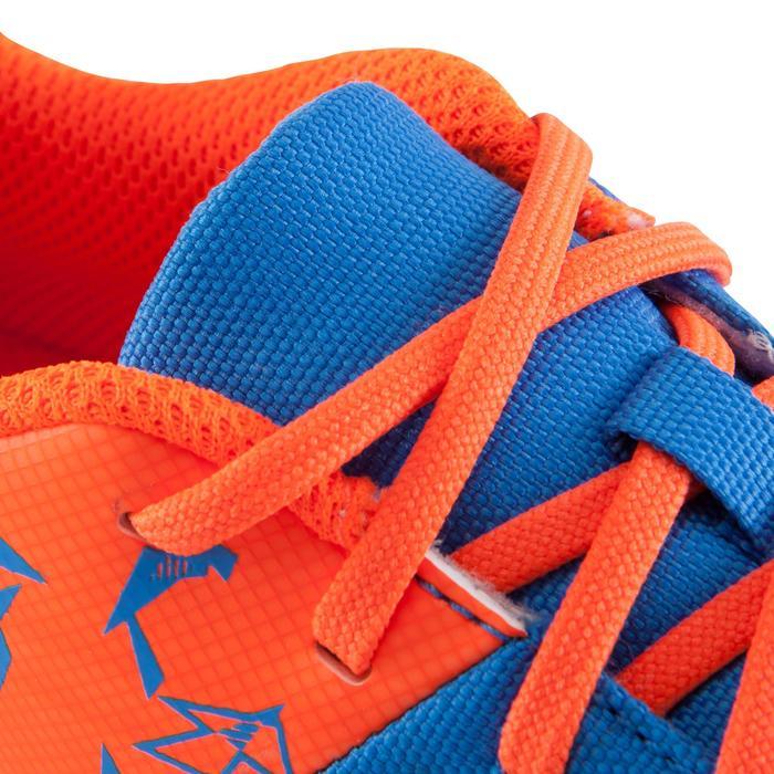 Voetbalschoenen CLR 500 HG voor hard terrein, kinderen, blauw/geel