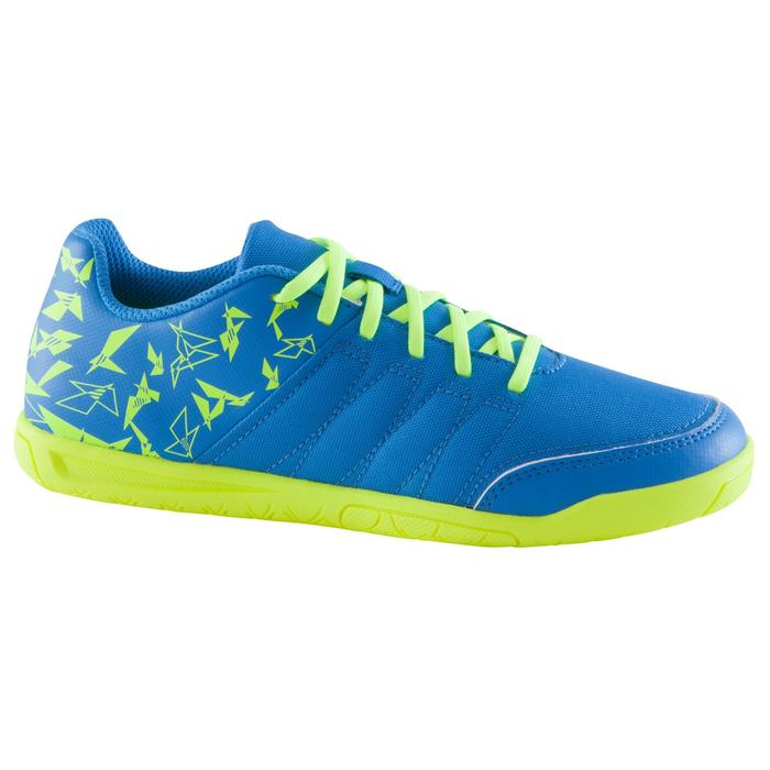 Chaussure de futsal enfant CLR 500 à scratch bleue - 1061016