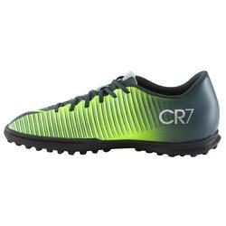 Voetbalschoenen Mercurial CR7 Vortex TF voor kinderen zwart - 1061075