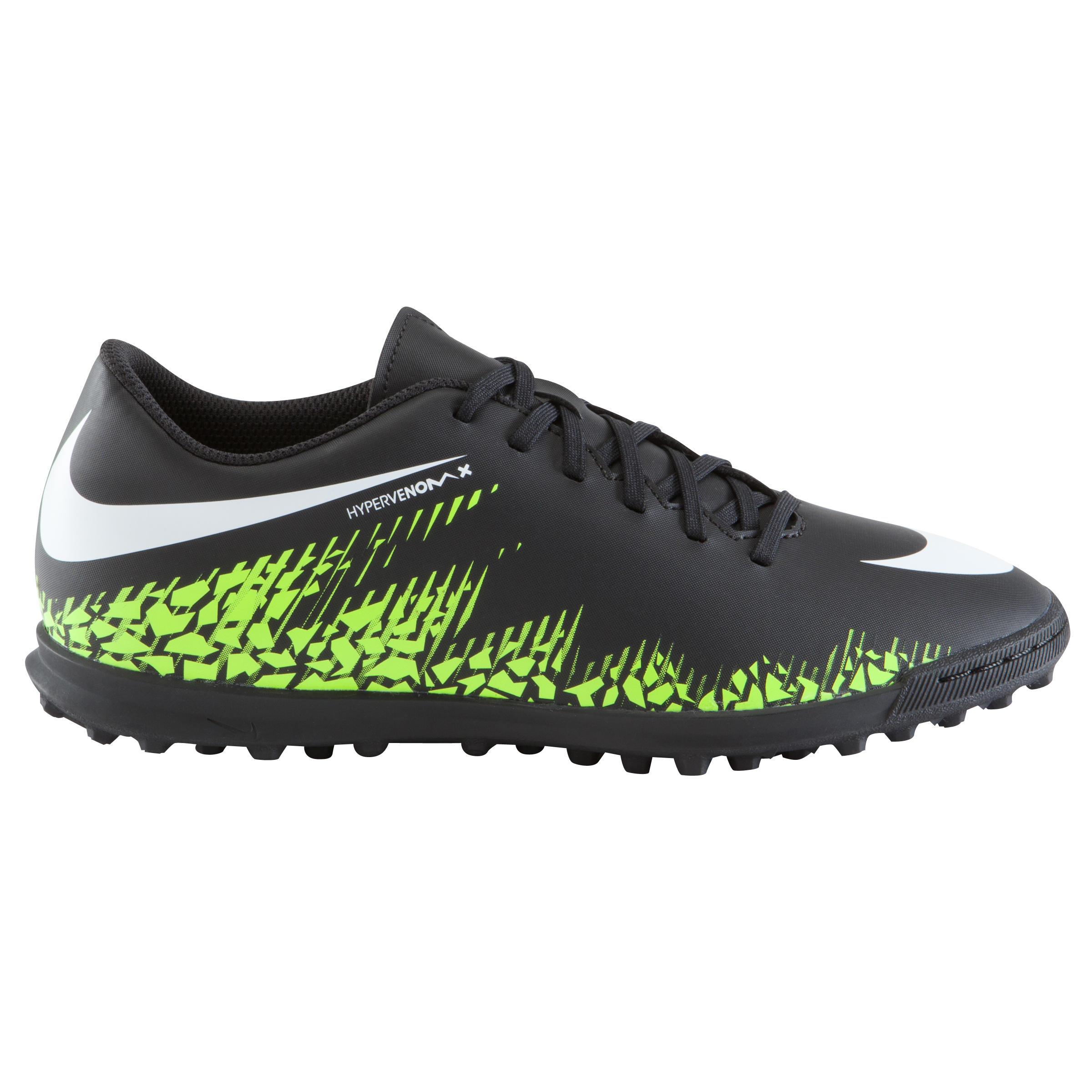 Nike Voetbalschoenen Hypervenom Phade TF voor kinderen, zwart