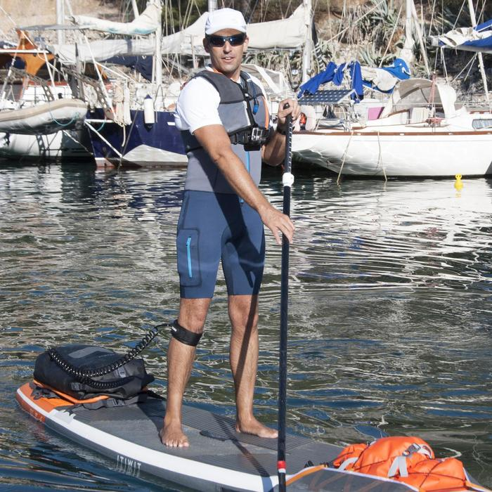 SHORTY SIN MANGAS KAYAK STAND UP PADDLE 500 NEOPRENO 2 mm HOMBRE GRIS AZUL