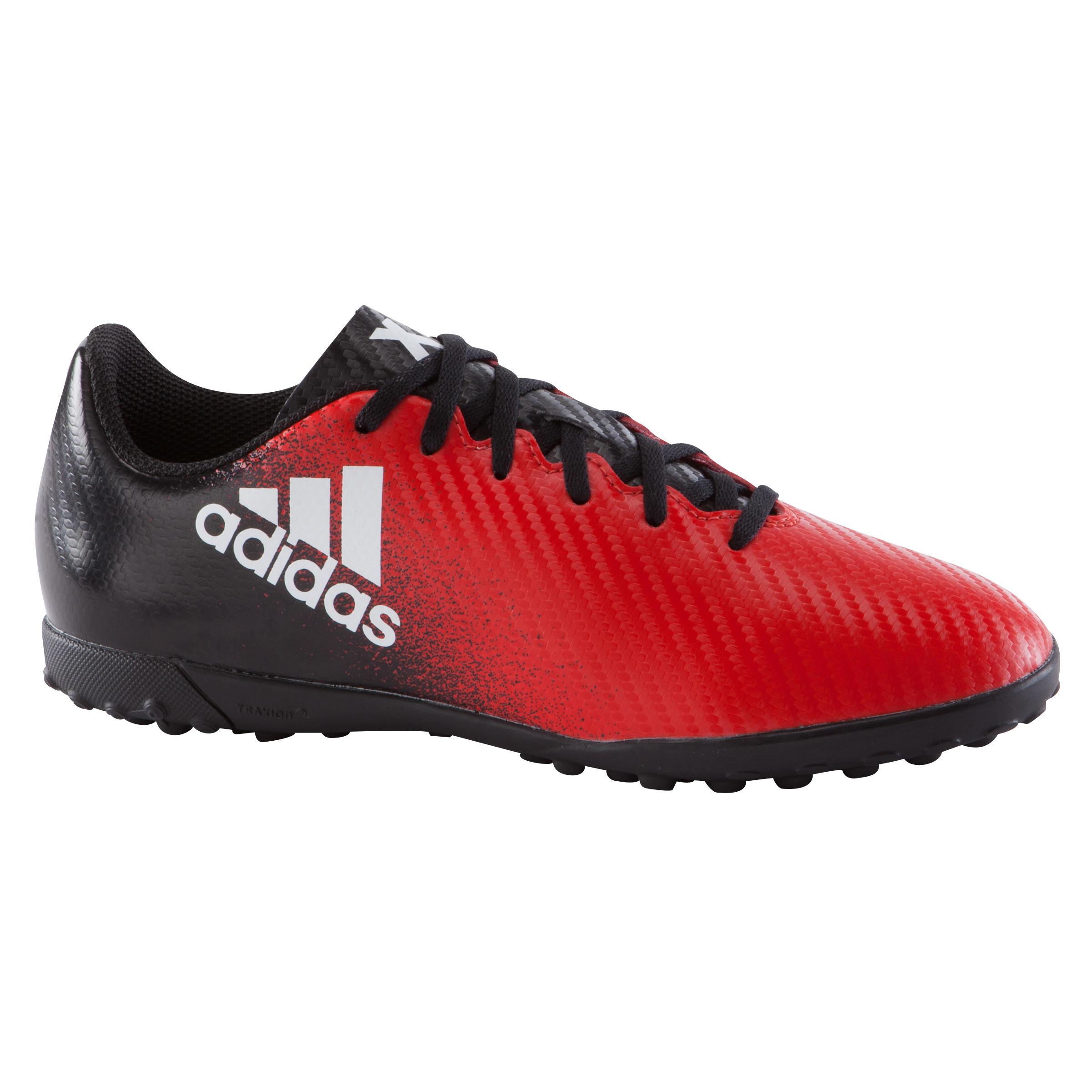 Voetbalschoenen X 16.4 TF voor kinderen rood-zwart