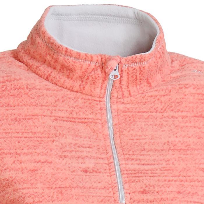 Hike 100 女童刷毛登山夾克 - 粉紅