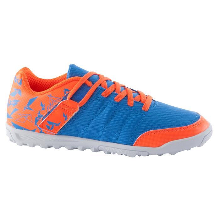 Botas de fútbol para niños terrenos duros CLR 500 HG azul naranja