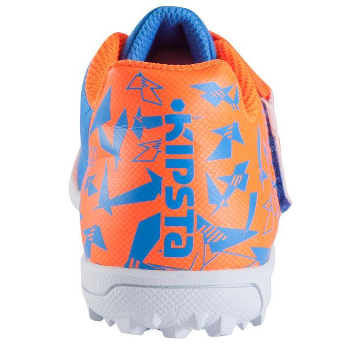 Voetbalschoenen CLR 500 HG voor hard terrein, kinderen, blauw/oranje