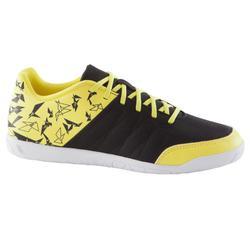 Zaalvoetbalschoenen CLR 500 voor kinderen zwart/geel