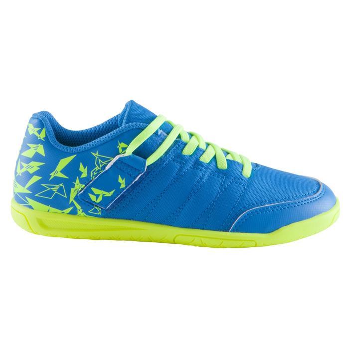 Chaussure de futsal enfant CLR 500 à scratch bleue - 1062020