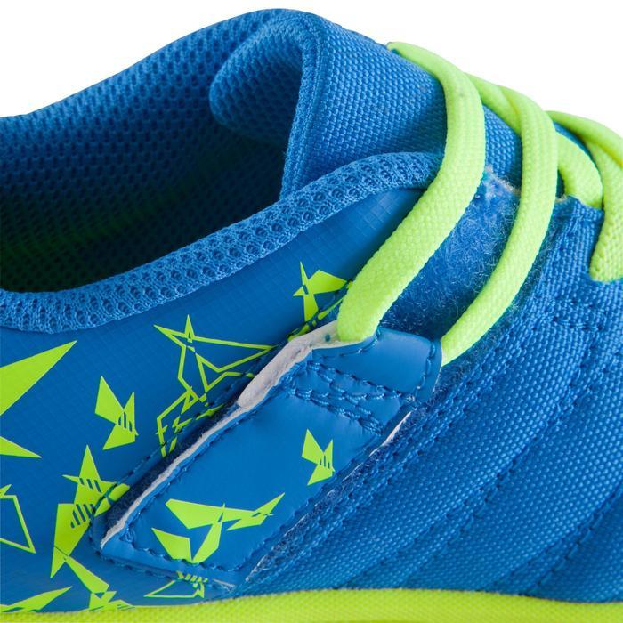 Chaussure de futsal enfant CLR 500 à scratch bleue - 1062025