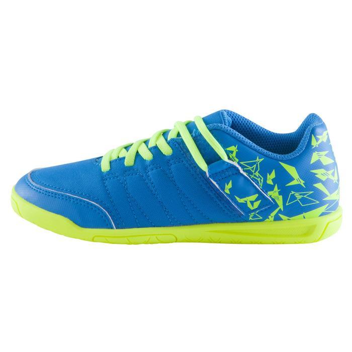 Chaussure de futsal enfant CLR 500 à scratch bleue - 1062027