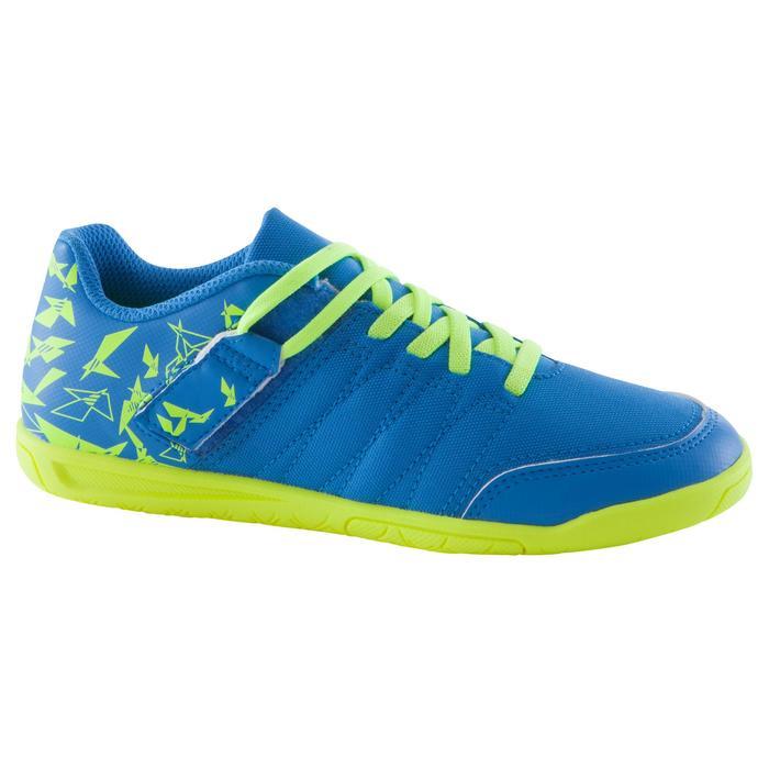 Chaussure de futsal enfant CLR 500 à scratch bleue - 1062033