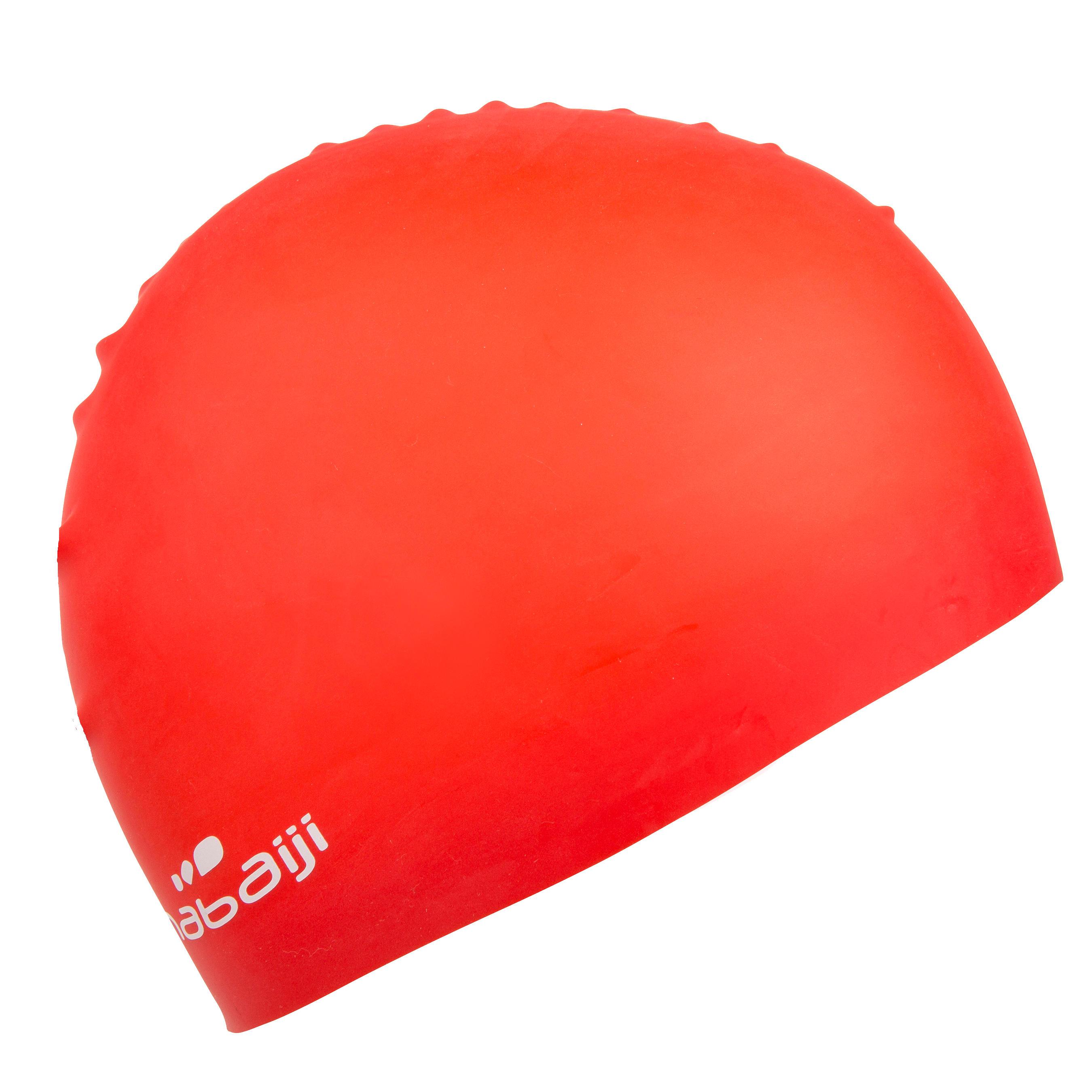Silicone Swim Cap - Plain Red