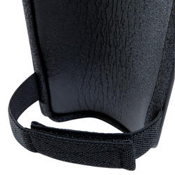 Protège-tibia de soccer adulte F100 noir