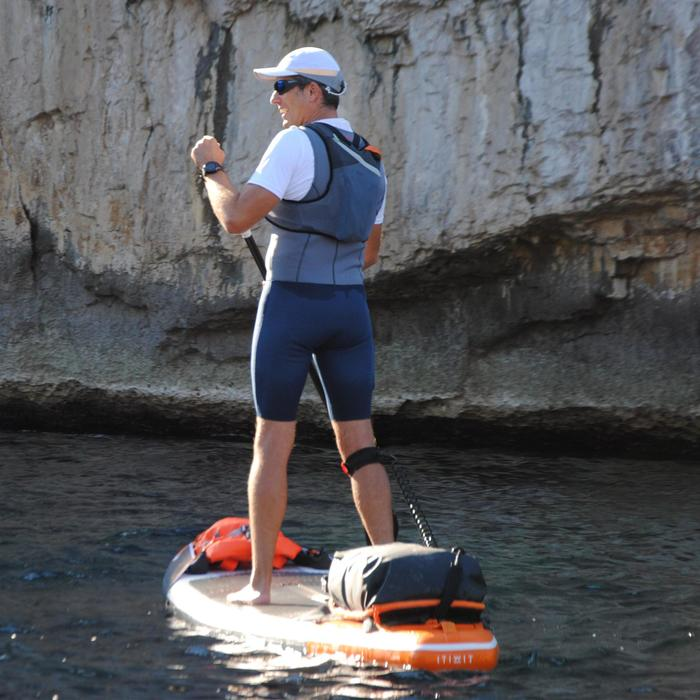 """STAND UP PADDLE GONFLABLE RANDONNEE COURSE 500 / 12'6-29"""" ORANGE - 1062375"""