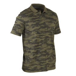 Men's Half Sleeve Polo 100 Camo Khaki